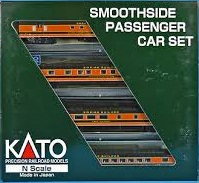 N Scale - Kato USA - 106-1003 - Great Northern Smoothside Passenger 4-Car Set A-1 - Great Northern - Twelve Mile Coulee, Lake Michigan, 1128, 37