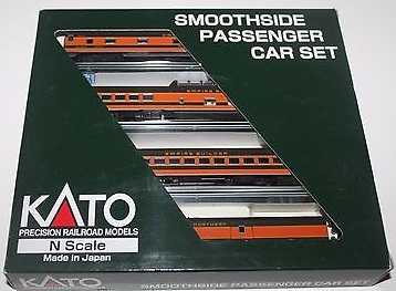 N Scale - Kato USA - 106-1104 - Great Northern Smoothside Passenger 4-Car Set B-2 - Great Northern - Santiam Pass, 270, 350, 1333