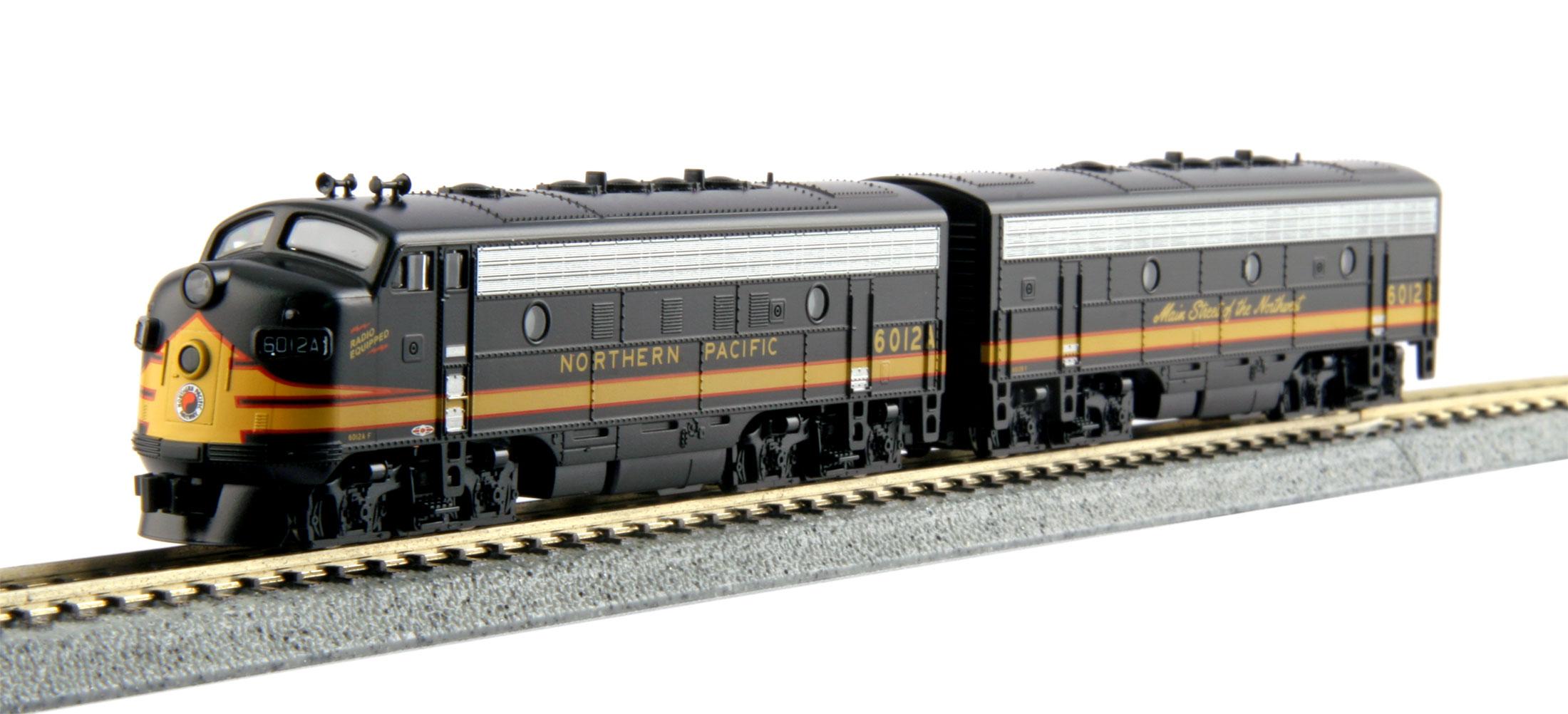 N Scale - Kato USA - 106-0422 - Locomotive, Diesel, EMD F7 - Northern Pacific - 6012A, 6012B