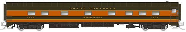 "N Scale - Rapido Trains - 504028 - Passenger Car, CCF, 10-5 Sleeper - Great Northern - 1375 ""Jefferson Pass"""