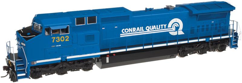 N Scale - Atlas - 40 002 696 - Locomotive, Diesel, GE Dash 8 - Conrail - 7302
