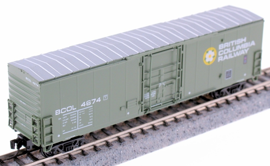 N Scale - True Line Trains - 600084 - Boxcar, 50 Foot, Newsprint - British Columbia - 6-pack