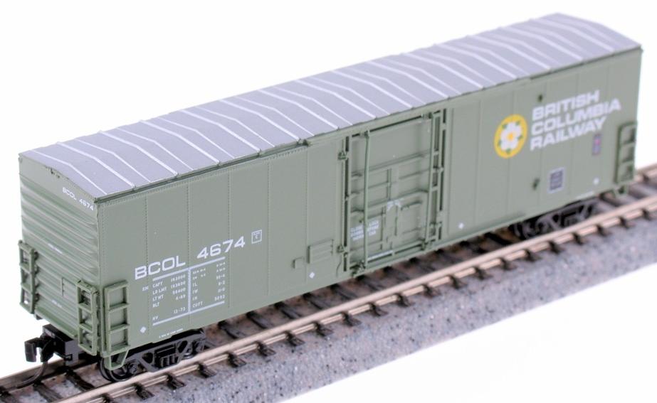 N Scale - True Line Trains - 600084 - Boxcar, 50 Foot, Newsprint - British Columbia - 6-pack