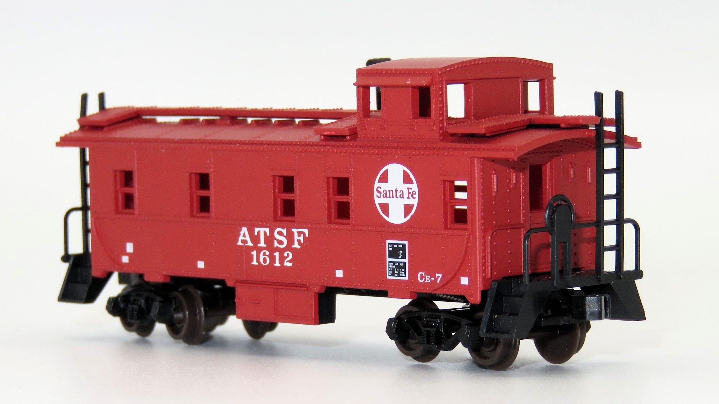 N Scale - Atlas - 35635 - Caboose, Cupola, Steel - Santa Fe - 1612