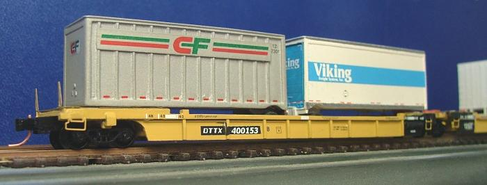 N Scale - N Scale Kits - NS023 3-Car Kit - Container Car, Well - Trailer Train