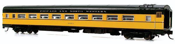 N Scale - Rapido Trains - 500048 - Passenger Car, CCF, Lightweight Coach - Chicago & North Western - 3435