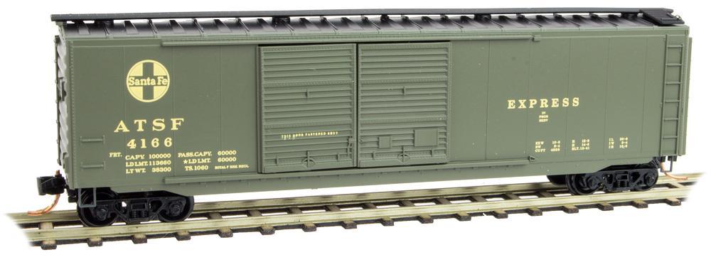 N Scale - Micro-Trains - 034 00 411 - Boxcar, 50 Foot, PS-1 - Santa Fe - 4166