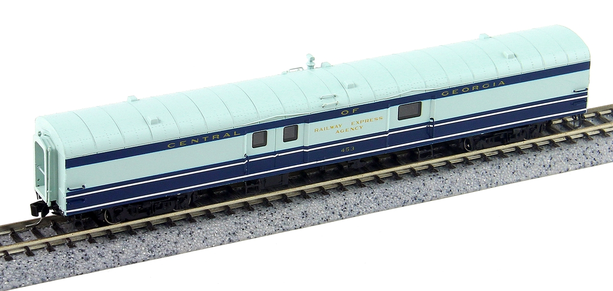 N Scale - Rapido Trains - 506016 - Passenger Car, NSC, Baggage - Central of Georgia - 453