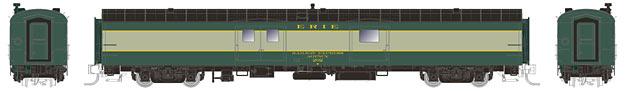 N Scale - Rapido Trains - 506025 - Passenger Car, NSC, Baggage - Erie