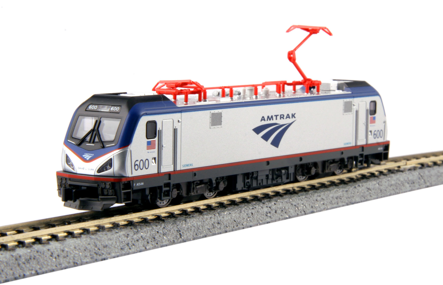 N Scale - Kato USA - 137-3001 - Locomotive, Electric, ACS-64 - Amtrak - 600