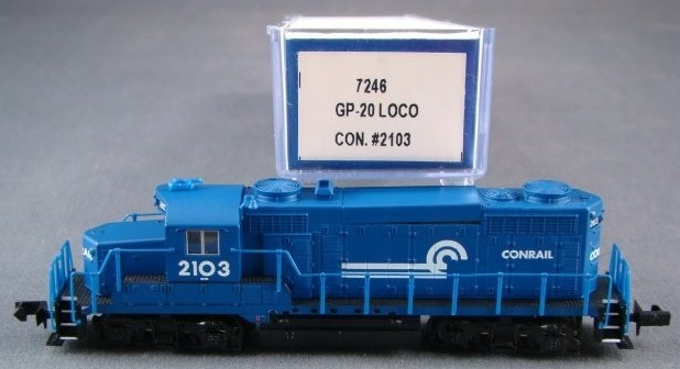 N Scale - Life-Like - 7246 - Locomotive, Diesel, EMD GP20 - Conrail - 2103