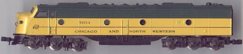 N Scale - Atlas - 2105 - Locomotive, Diesel, EMD E8 - Chicago & North Western - 5021A