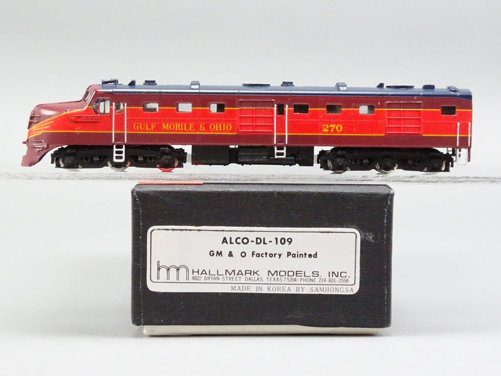 N Scale - Hallmark Models - NS0165 - Locomotive, Diesel, Alco DL-109 - Gulf Mobile & Ohio - 270