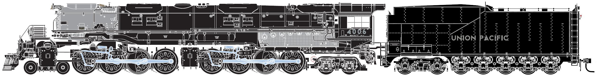 N Scale - Athearn - 11823 - Locomotive, Steam, 4-8-8-4 Big Boy - Union Pacific - 4006