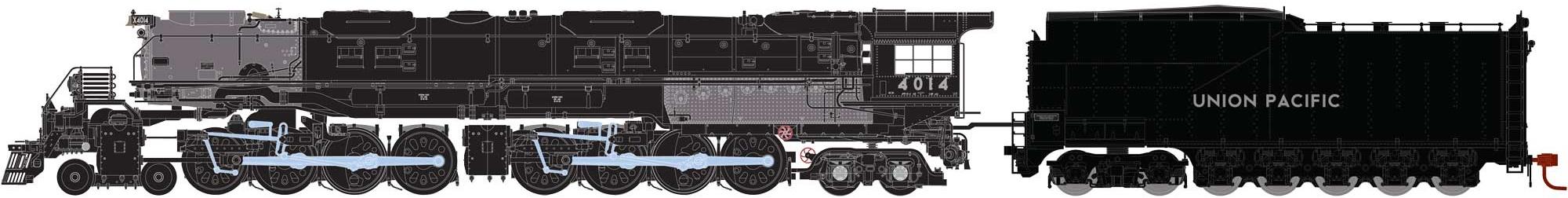 N Scale - Athearn - 22902 - Locomotive, Steam, 4-8-8-4 Big Boy - Union Pacific - 4014