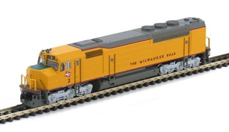 N Scale - Athearn - 16814 - Locomotive, Diesel, EMD FP45 - Milwaukee Road - 2