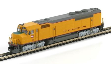 N Scale - Athearn - 16815 - Locomotive, Diesel, EMD FP45 - Milwaukee Road - 5