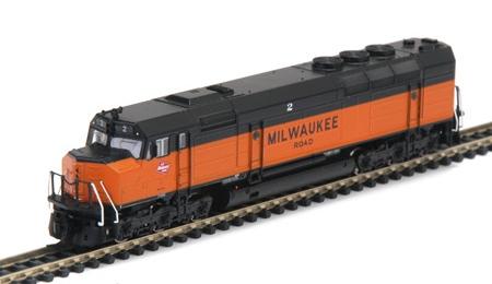 N Scale - Athearn - 16830 - Locomotive, Diesel, EMD FP45 - Milwaukee Road - 2