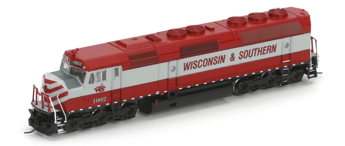 N Scale - Athearn - 16837 - Locomotive, Diesel, EMD F45 - Wisconsin & Southern - 1002