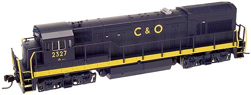N Scale - Atlas - 47900 - Locomotive, Diesel, GE U23B - Chesapeake & Ohio - 2319
