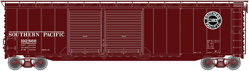 N Scale - Atlas - 50 002 255 - Boxcar, 50 Foot, Steel, Double Door - Southern Pacific - 192866