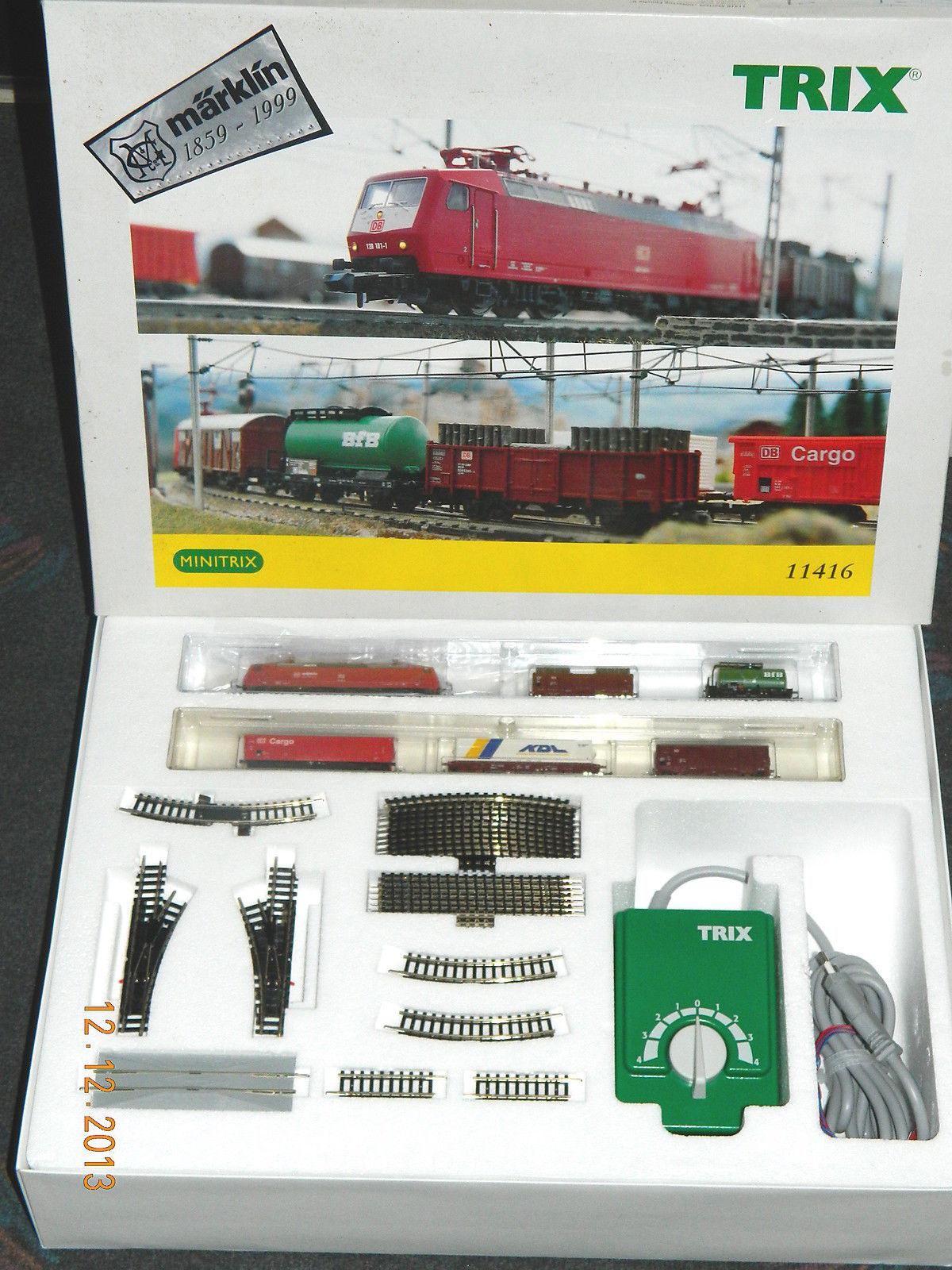 N Scale - Minitrix - 11416 - Freight Train, European, Electric, Epoch V - Deutsche Bahn