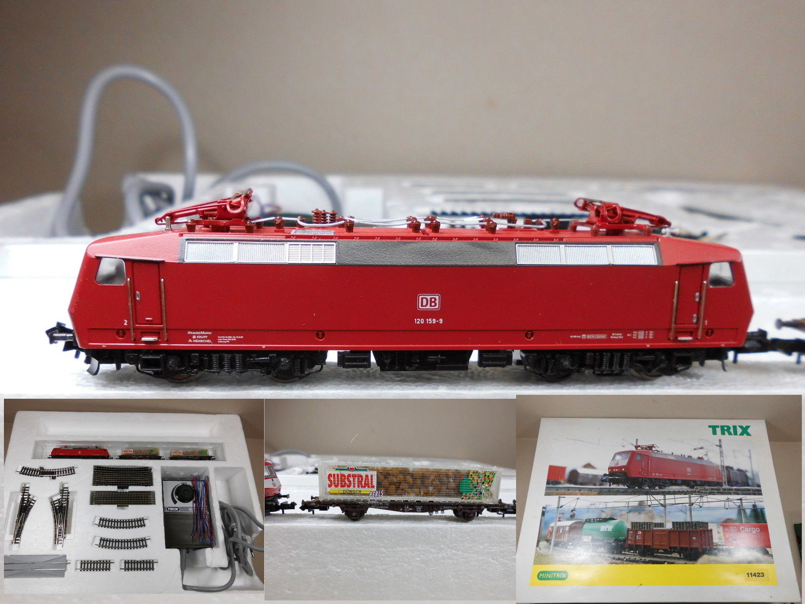 N Scale - Minitrix - 11423 - Freight Train 3-Unit Set - Deutsche Bahn