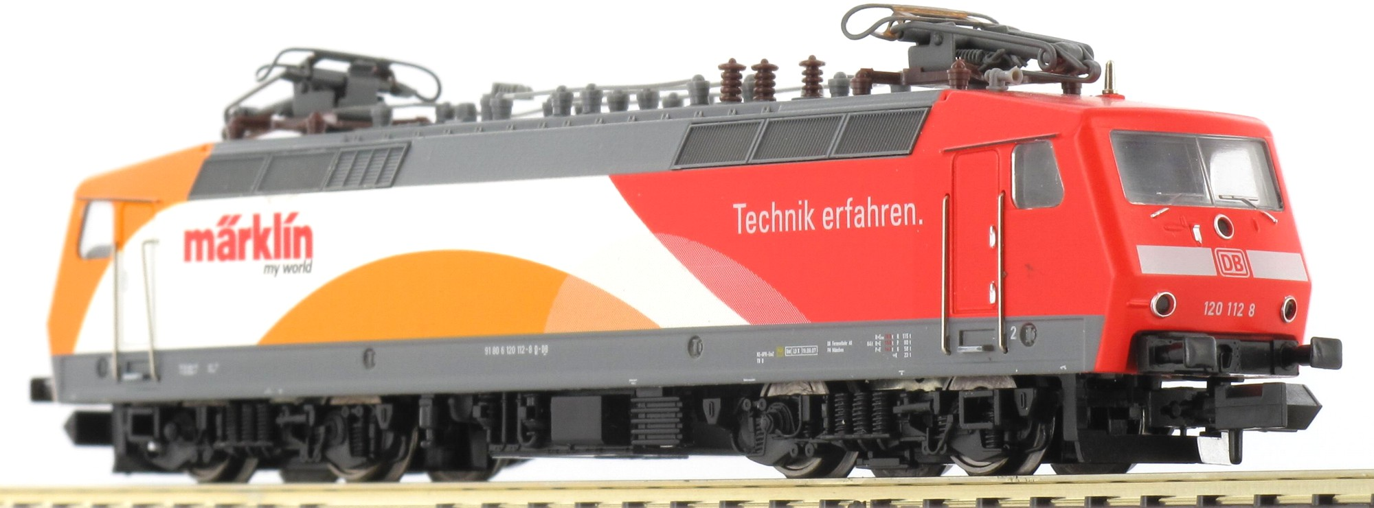N Scale - Minitrix - 16023 - Locomotive, Electric, BR 120 - Deutsche Bahn - 120 112-8