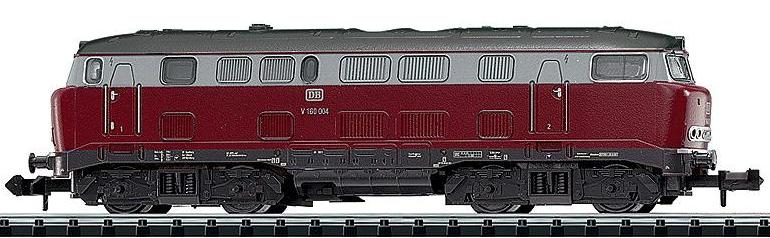 N Scale - Minitrix - 11130a - Locomotive, Diesel, DB V160 - Deutsche Bahn - V 160 004