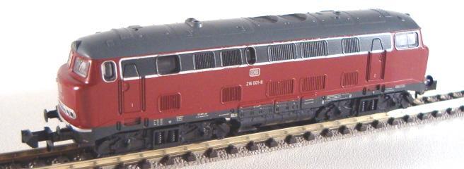 N Scale - Minitrix - 18012 - Locomotive, Diesel, DB V160 - Deutsche Bahn - 216 001-8