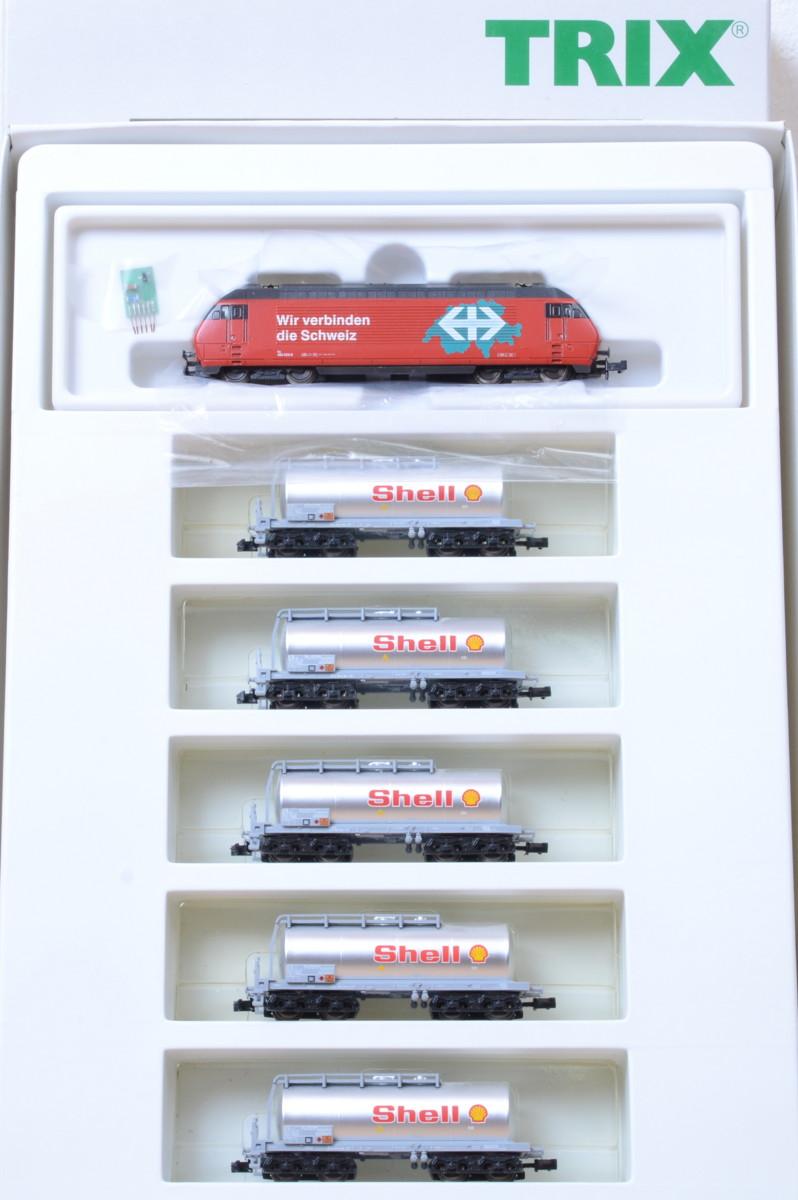 N Scale - Minitrix - 11418 - Freight Train Danzas 4-Unit Set - SBB CFF FFS