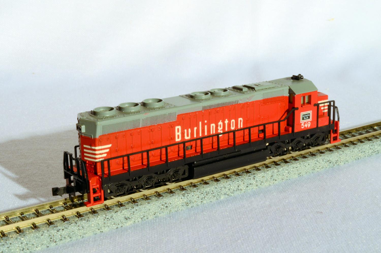 N Scale - Atlas - 2143 - Locomotive, Diesel, EMD SD45 - Burlington Route - 549