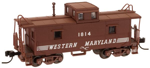 N Scale - Atlas - 39830 - Caboose, Cupola, Steel, C&O - Western Maryland - 1818