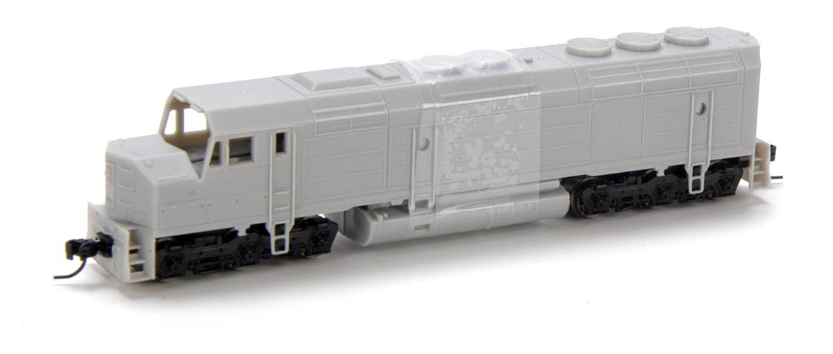 N Scale - Athearn - 16800 - Locomotive, Diesel, EMD F45 - Santa Fe - Undec
