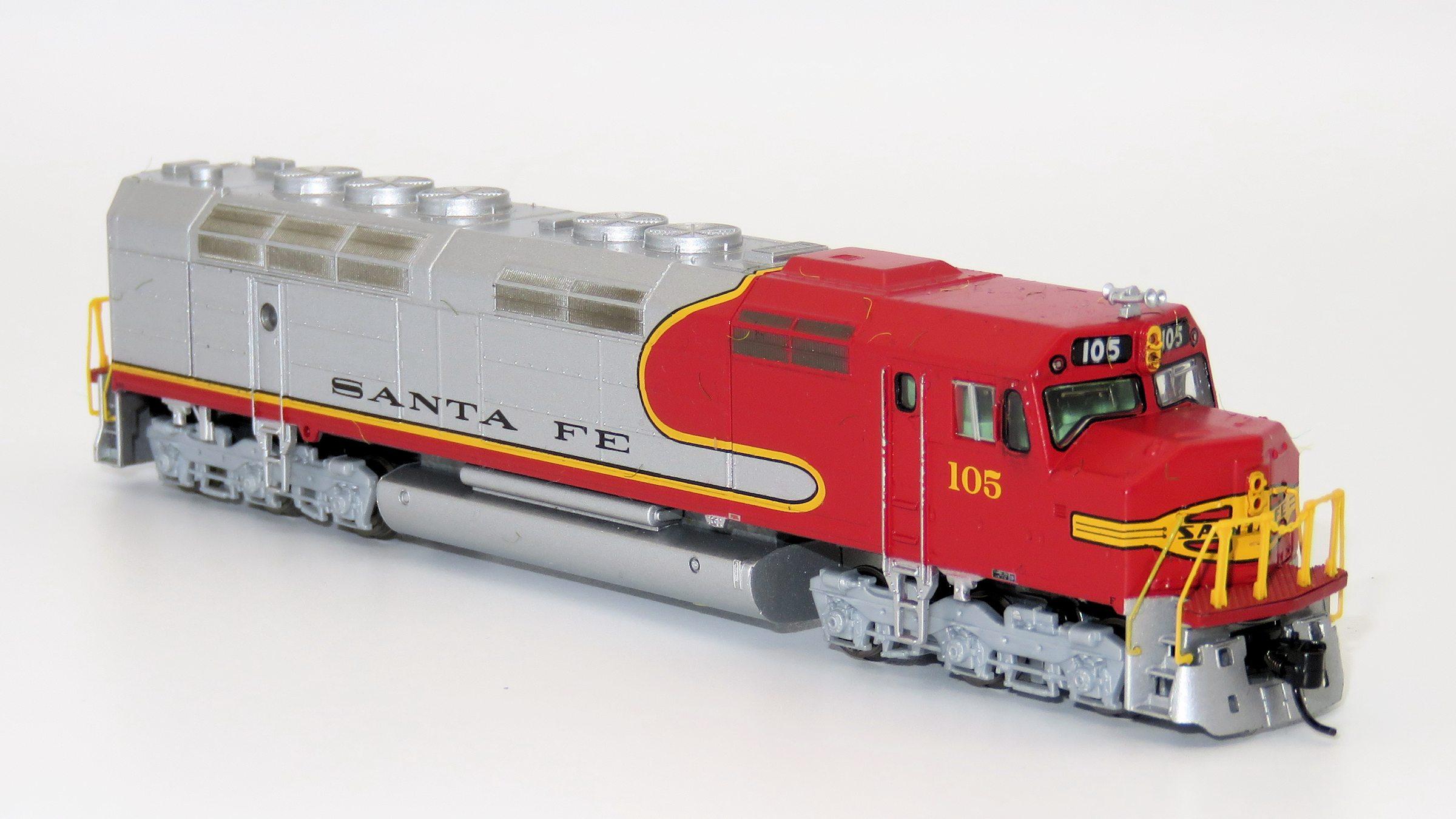 N Scale - Athearn - 16810 - Locomotive, Diesel, EMD FP45 - Santa Fe - 105