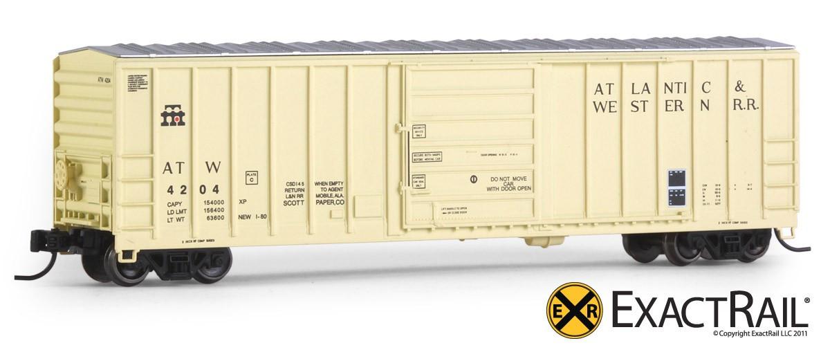 N Scale - ExactRail - EN-51202-2 - Boxcar, 50 Foot, Evans 5277 - Atlantic & Western - 4221