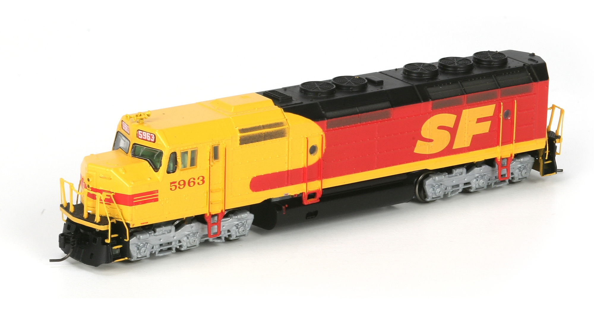 N Scale - Athearn - 22416 - Locomotive, Diesel, EMD F45 - Santa Fe - 5963