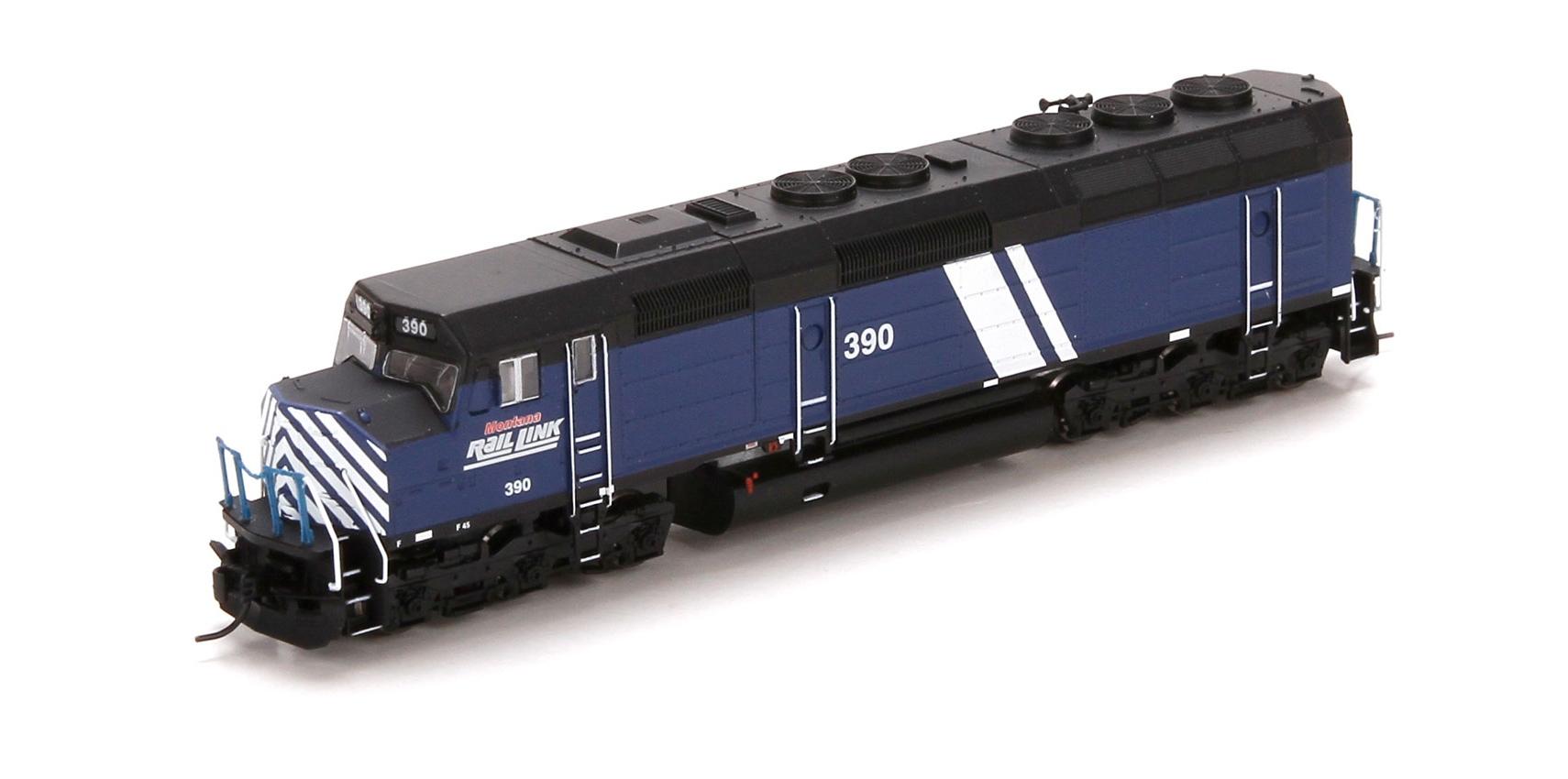 N Scale - Athearn - 22435 - Locomotive, Diesel, EMD F45 - Montana Rail Link - 390