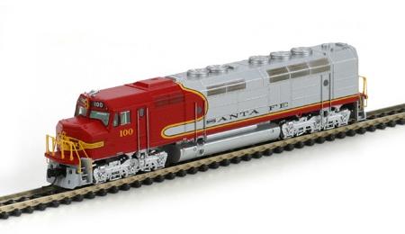 N Scale - Athearn - 16858 - Locomotive, Diesel, EMD FP45 - Santa Fe - Undec