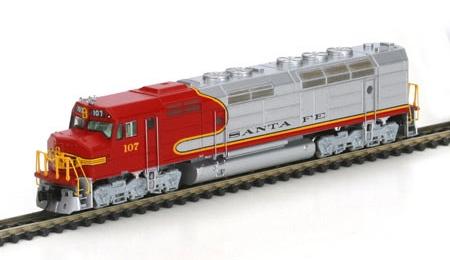 N Scale - Athearn - 16861 - Locomotive, Diesel, EMD FP45 - Santa Fe - 107