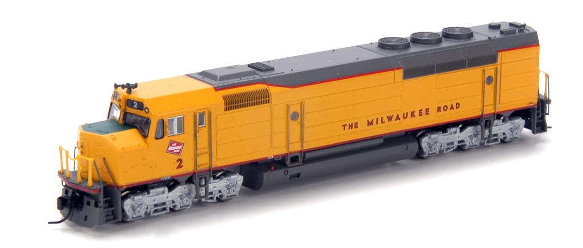 N Scale - Athearn - 16864 - Locomotive, Diesel, EMD FP45 - Milwaukee Road - 2