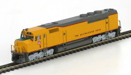 N Scale - Athearn - 16865 - Locomotive, Diesel, EMD FP45 - Milwaukee Road - 5