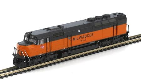 N Scale - Athearn - 16882 - Locomotive, Diesel, EMD FP45 - Milwaukee Road - 5