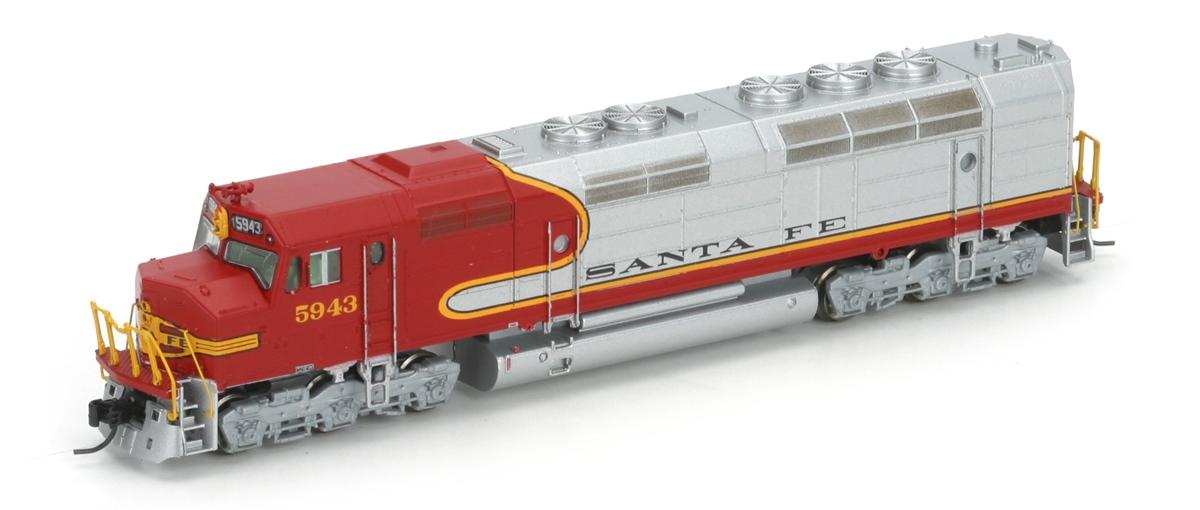 N Scale - Athearn - 16889 - Locomotive, Diesel, EMD FP45 - Santa Fe - 5943