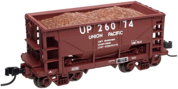 N Scale - Atlas - 40985 - Open Hopper, Ore Car, 70 Ton - Union Pacific - 26074