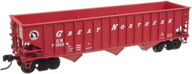 N Scale - Atlas - 50 001 672 - Open Hopper, 3-Bay PS-3 2750 - Great Northern - 70024