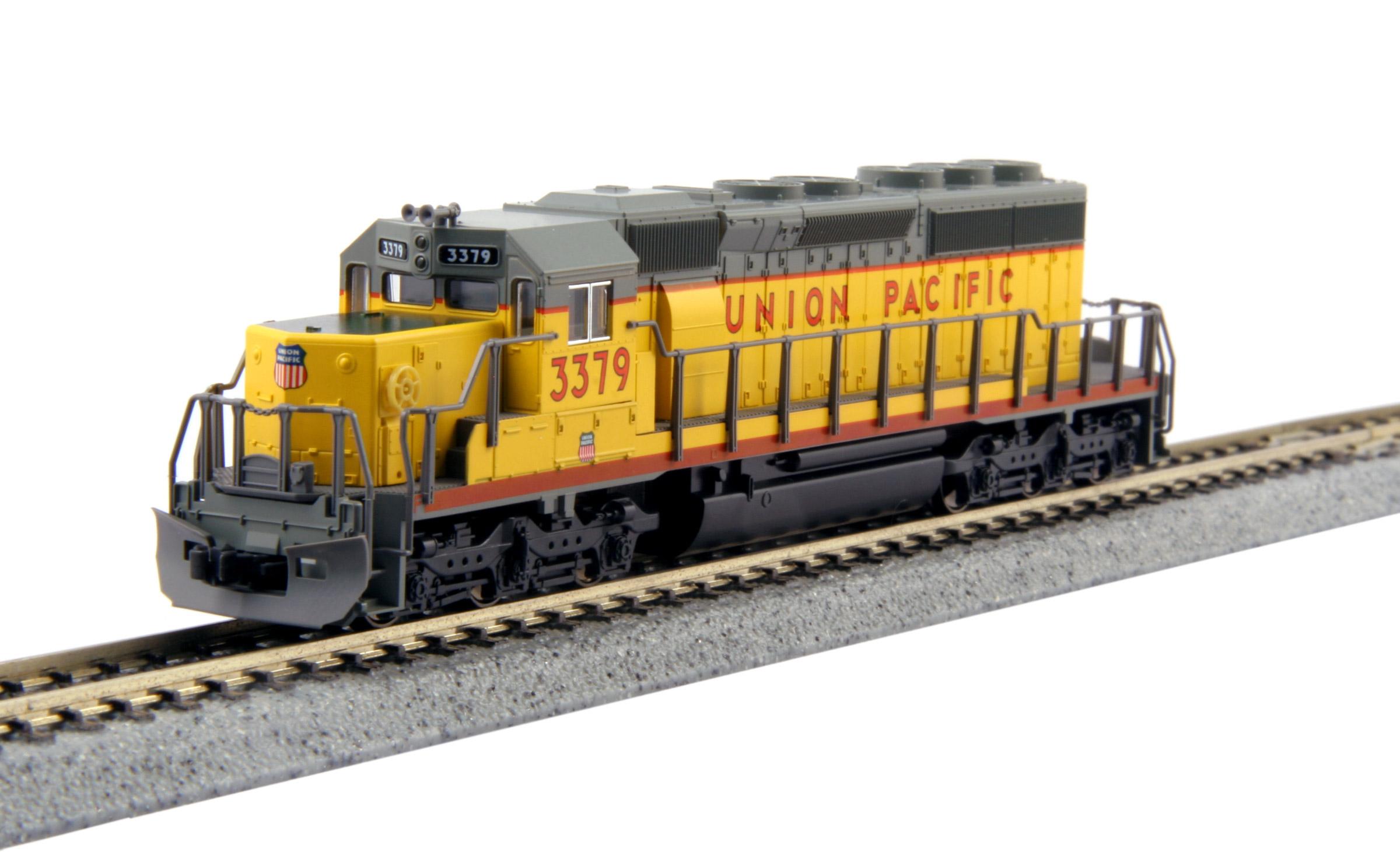 N Scale - Kato USA - X402-UP3379 - Locomotive, Diesel, EMD SD40-2 - Union Pacific - 3379
