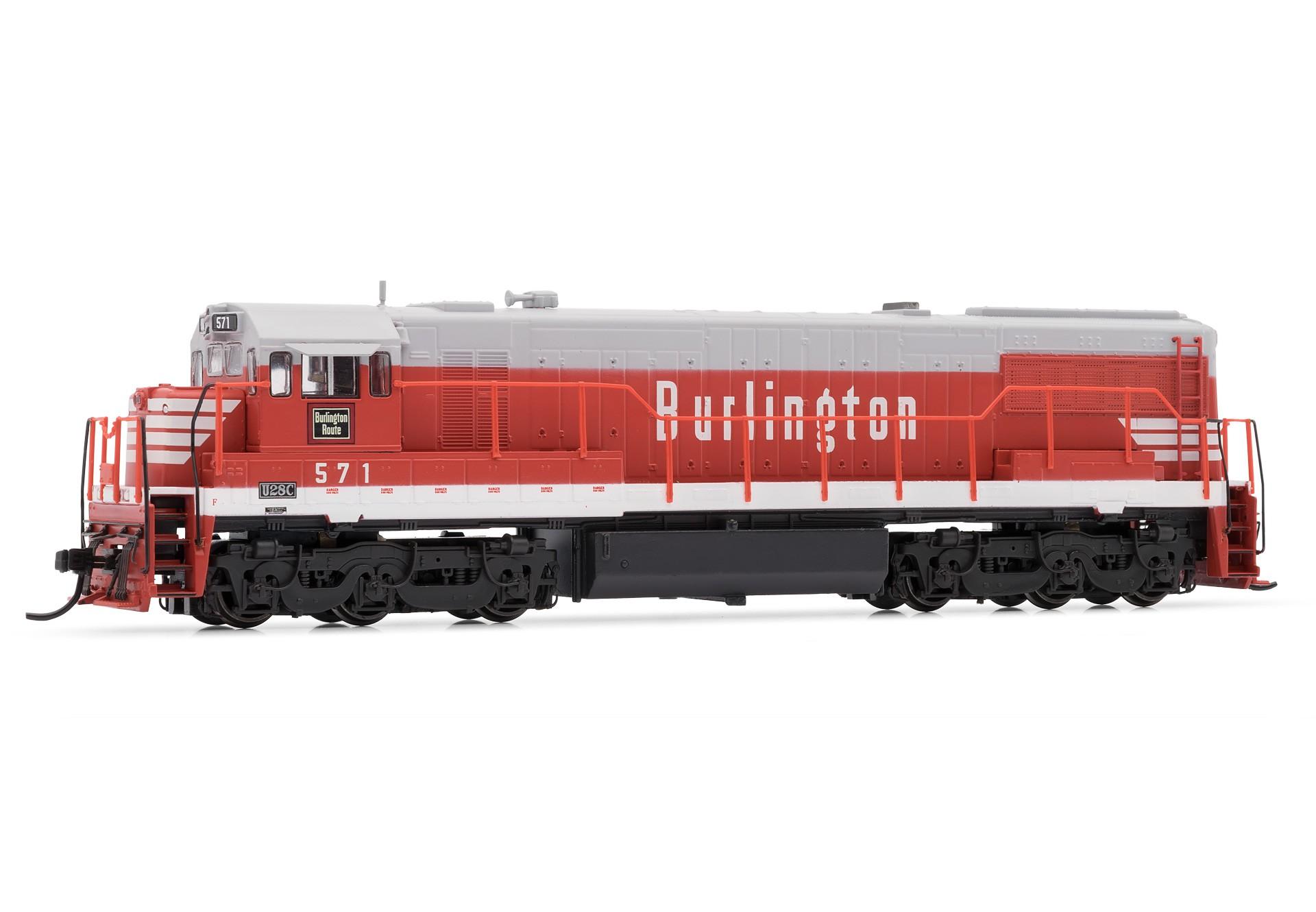 N Scale - Arnold Hornby - HN2311 - Locomotive, Diesel, GE U28C - Burlington Route - 571