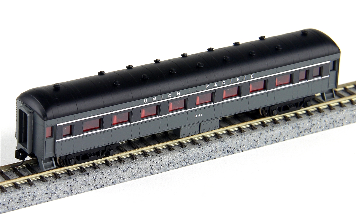 N Scale - Wheels of Time - 342 - Passenger Car, Harriman, 60 Foot - Union Pacific - 882