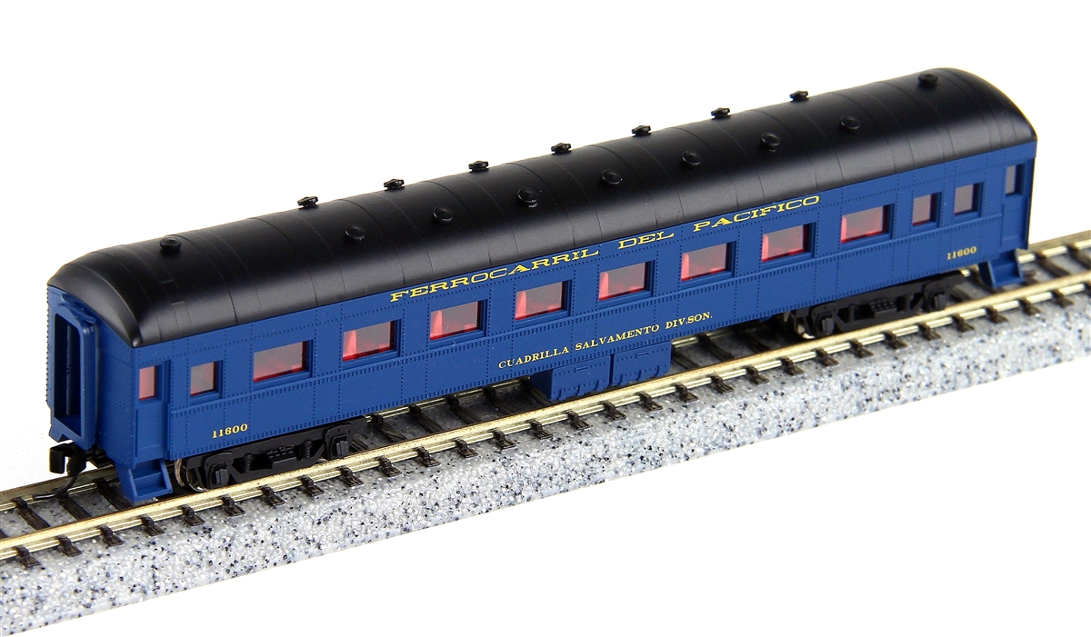 N Scale - Wheels of Time - 358 - Passenger Car, Harriman, 60 Foot - Ferrocarril Del Pacifico - 11600